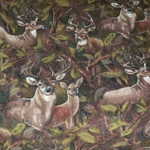 DEER Hunter Fleece Camo Lap Warm Blanket